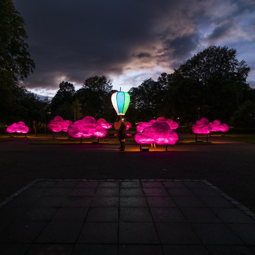 Barnens Lights Rosa Himmel